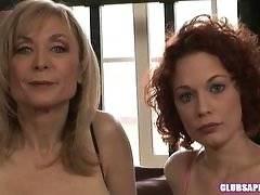 Redhead Justine Joli and MILF Nina Hartley Going Downtown!